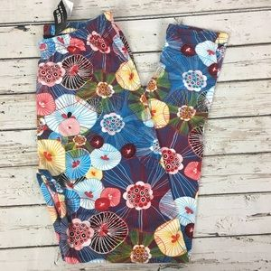 NWT Agnes & Dora Poppy Floral Leggings Lg 12-16